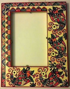 Madhubani photos frame hand painted 16