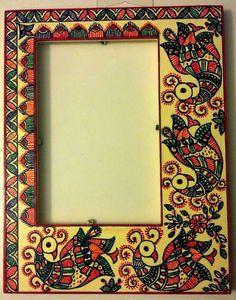 Madhubani photos frame hand painted 16