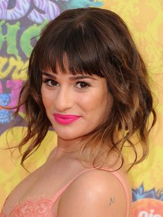 want to go short, but not forever? try lea michele & kaley cuoco's awesome faux bobs