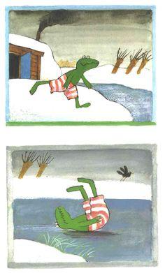 * Praatplaten: Kikker in de kou! 2-9 Winter Illustration, Illustration Art, Kindergarten Worksheets, School Supplies, Diy For Kids, Childrens Books, Preschool, Cold, Artist