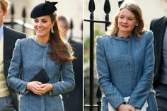 Kate Middleton attends a wedding and someone else is wearing her outfit!!