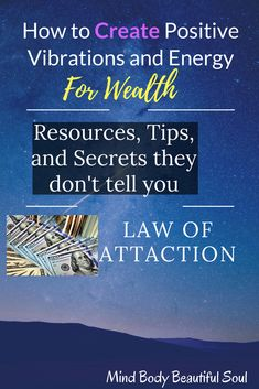 How to Create Positive Vibrations and Energy For Wealth. The Secrets they don't tell you. Affirmation Quotes, Vibrations Energy, How To Manifest, Finding Peace, Negative Thoughts, Inspire Others, Positive Attitude, Law Of Attraction, Reiki