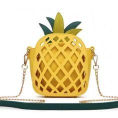 Pineapple Laser Cut Mini Crossbody Bag [APPL5464 YELLOW]