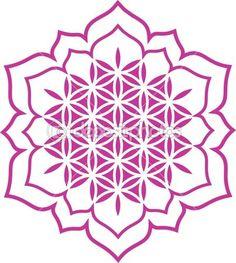 Fleur de vie - fleur de lotus - symbole de guérison et d'harmonie — Illustration #21263375