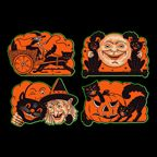 Halloweentown Store: vintagey Halloween cutouts and decorations