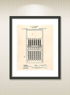 This reproduction was digitally restored and in some cases altered to remove defects or unwanted artifacts present in the original #patent document. Buy more and save! Buy ... #patentart #art #print #gift #digital #download #instant #printable #vintage #drawing #calculators #chinese