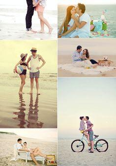 Ideas para una preboda en la playa/Beach engagement session ideas