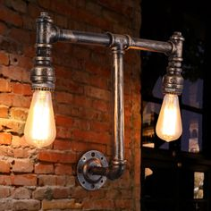 Trend E E Edison Wall Lamp Ancient Water Pipe Sconce American Vintage Industrial Light Fixtures for