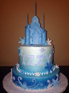 Frozen cake with fondant Ice Castle