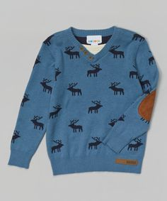 Another great find on #zulily! Blue Deer Sweater - Toddler & Boys #zulilyfinds