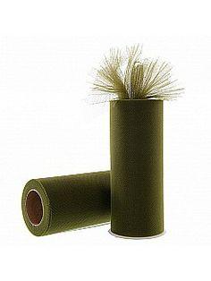 Navy Green Tulle Spool Roll Tutu Wedding Gift Bow - USD $1.99