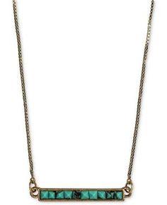 Pyramid Horizontal Bar Necklace