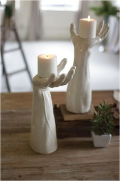 Ceramic Hand Candle Holder ^^ ~ ~ v lv �� La-la-la Bonne vie � ` � Have a Nice Day! ~ SAT 9th JAN 2016!!! ~ ~ ^^ #HomeStyling #Pottery #Ceramic click for info.