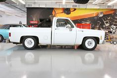 Lowering a square-body Chevy C10.