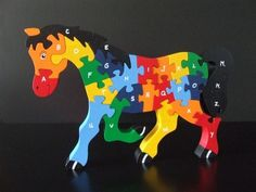 Alphabet puzzle horse - Scroll Saw Woodworking & Crafts Photo Gallery