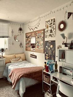 Dorm Room Designs, Room Design Bedroom, Room Ideas Bedroom, Small Room Bedroom, Small Rooms, Doorm Room Ideas, Teen Bedroom, Bedroom Colors, Bedroom Decor