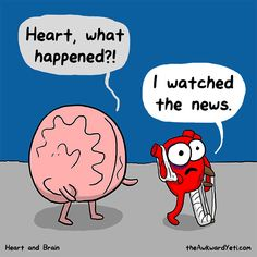 The Awkward Yeti comics. Funny humor and oddities. Have a laugh and check out… Mbti, Funny Quotes, Funny Memes, Hilarious, Funny Friday Humor, Quotes Pics, Monday Humor, Caricature, Heart And Brain Comic