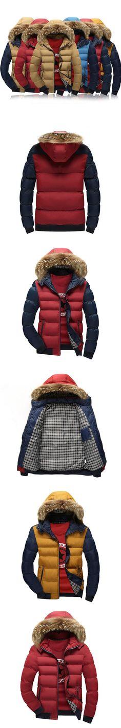 Thick Warm Hooded Men Winter Coat 2017 Hot Fashion Jacket Coat Men Parka High Quality Plus Size 22