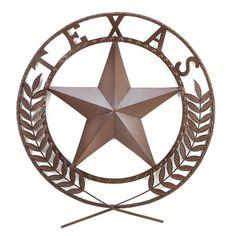 Metal Texas Star Wall Decor Plaque Art Cowboy Sculpture Mural Decal Western Iron #TexasStarWallPlaque #Western