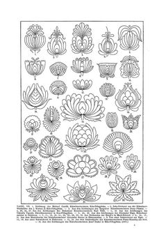 Free Clip Art and Digital Collage Sheet - Magyar Ornament Hungarian Embroidery, Folk Embroidery, Embroidery Stitches, Hungarian Tattoo, Japanese Embroidery, Bordado Popular, Embroidery Designs, Motif Floral, Floral Patterns