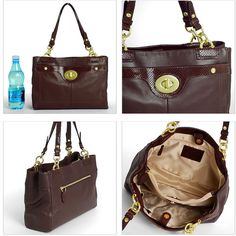 feef77a673 Coach Mahogany Brown Pebbled Leather PENELOPE Satchel Carryall Tote Bag  F16531  Coach  TotesShoppers