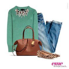 #OutfitEme Dale un poco de atrevimiento a tu look con unas zapatillas de animal print. Para saber más de moda y ser toda una fashionista entra en nuestra página web http://ve.emedemujer.com/moda/.