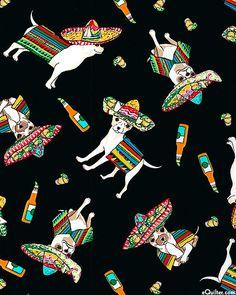 eQuilter Cinco de Mayo - Chihuahua Dancer -Black