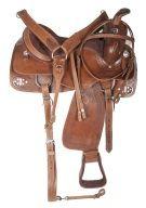 Custom Western Trail Ranch Leather Horse Saddle Tack 16 18