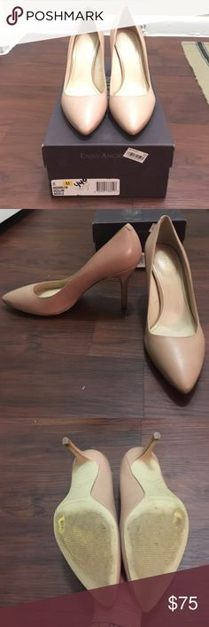 Enzo Angiolini Nude pumps size 8 Worn maybe twice they're just too big for me. Great nude color. Heel height about 3 ½ inches, very easy to walk in. Original box included. Enzo Angiolini Shoes Heels