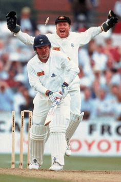 Ball of the Century. Mike Gatting is bowled by Shane Warne, England v Australia, 1st Test, Old Trafford, June 4, 1993