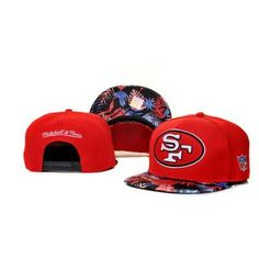 Mitchell Ness San Francisco 49ers Confetti Flower Hats - Red