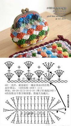 Crochê criativo - 30 Ideias de porta-moedas de crochê ⋆ De Frente Para O Mar - Stricken anleitungen,Stricken einfach,Stricken ideen,Stricken tiere,Stricken strickjacke Crochet Diy, Crochet Motifs, Crochet Stitches, Crochet Hats, Tutorial Crochet, Diy Tutorial, Crochet Ideas, Purse Tutorial, Crochet Wallet
