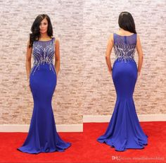 Royal Blue Sexy Plus Size Prom Dresses Sleeves Heavy Beading Satin Mermaid Red Carpet Formal Evening Party Gowns Zuhair Murad Dress Elie Saab Prom Dresses Evening Dresses Long Online with 149.72/Piece on Nameilishawedding's Store | DHgate.com