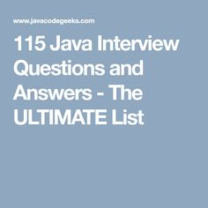 Looking For Java Interview Questions And Answers? We Have The ULTIMATE  Collection For You, Whether You Are A Beginner Or An Experienced Developer!