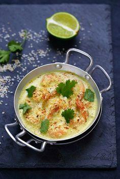 Curry de gambas à la noix de coco                                                                                                                                                                                 Plus