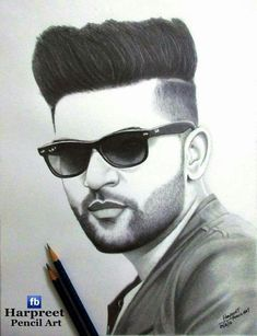 Looking for the Guru Randhawa Wallpaper? So, Here is Collection of Punjabi Singer Guru Randhawa Wallpapers & images With hair Style Pencil Sketch Portrait, Portrait Sketches, Pencil Art Drawings, Drawing Sketches, Lion Sketch, Face Sketch, Beautiful Pencil Sketches, Amazing Drawings, Cristiano Ronaldo