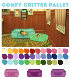 Comfy Critter Pallet Pet Bed for The Sims 4