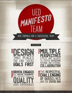 UED Team Manifesto