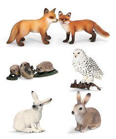 European Wildlife Figurine Set #zulily #zulilyfinds
