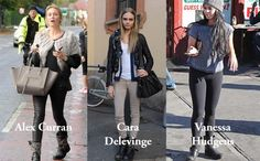 Ash Titan Boots as seen worn by Cara Delevinge, Alex Curran and Vanessa Hudgens..... Get yours here http://www.the-dressingroom.com/item/Ash/Titan-Destroyer-Studded-Biker-Boot-Silver-and-Black/3HL4