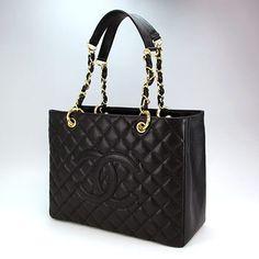 a043e6e72 Chanel GST Black Caviar leather with Gold hardware please Bolsa Chanel,  Roupas Tumblr, Luxo