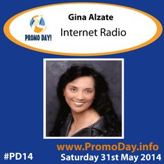 """Gina Alzate will be presenting """"Internet Radio"""" at this years Promo Day event. www.PromoDay.info #PD14 Saturday 31st May."""
