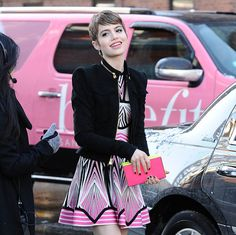 Newcomer Sami Gayle is on a show called Bluebloods that I've never personally seen, but I'd like to get a closer look at her BCBGMAXAZRIA Thea Clutch