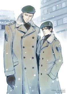 Erwin Smith x Rivaille (Levi) <- holy fuck they look hot.