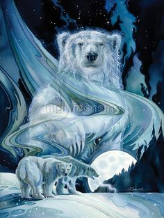 """КвикДекор"" - авторская картина ""Белые медведи"""