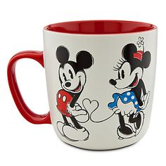 The other side of the Mickey and Minnie Mouse Mug | Drinkware | Disney Store