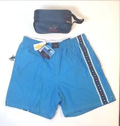 3687cf9f48 Paul & Shark Yachting Swimming Trunks Bermuda Shorts Size XL Blue New With  Tags