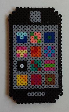 Week 2, Day 10, Phone Lock Screen, Perler Beads 365 Day Challenge.