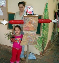 scarecrow crafts from recycled materials