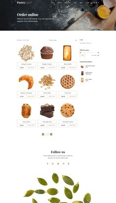 Buy Pastry Love - Bakery & Cake Shop by BoldThemes on ThemeForest. Pastry Love – Bakery and Patisserie WordPress Theme Pastry Love is a WordPress theme exclusively built for bakery, ca. Bakery Website, Restaurant Website Design, Food Website, Ecommerce Website Design, Website Design Layout, Website Design Inspiration, Choco Chocolate, Juice Packaging, Bakery Logo